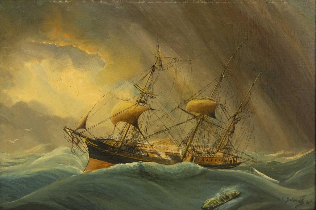 108- Charles DUBREUIL. Deux huiles sur toiles signées. 38x54cm. Adjugé 450€ (2)