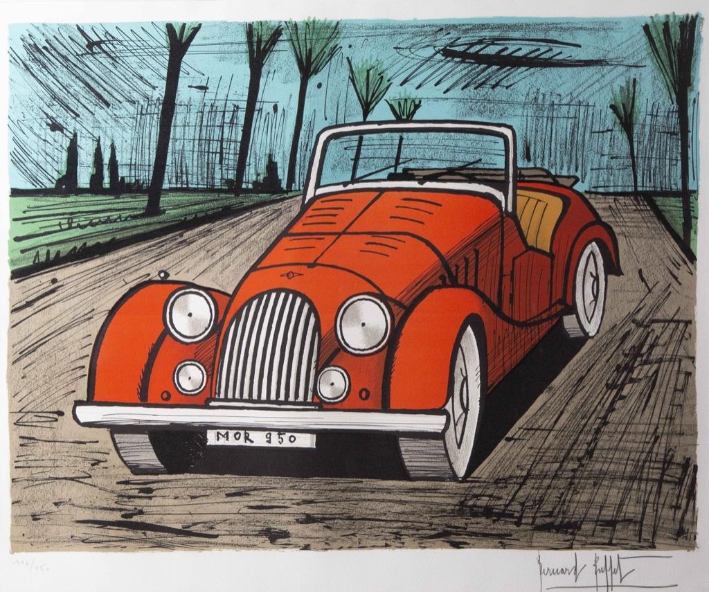 225 Bernard BUFFET (1928-1999). Morgane rouge 950. Lithographie en couleur signée dans la planche au crayon et numérotée 116-150. 56x68cm. Adjugé 1300€