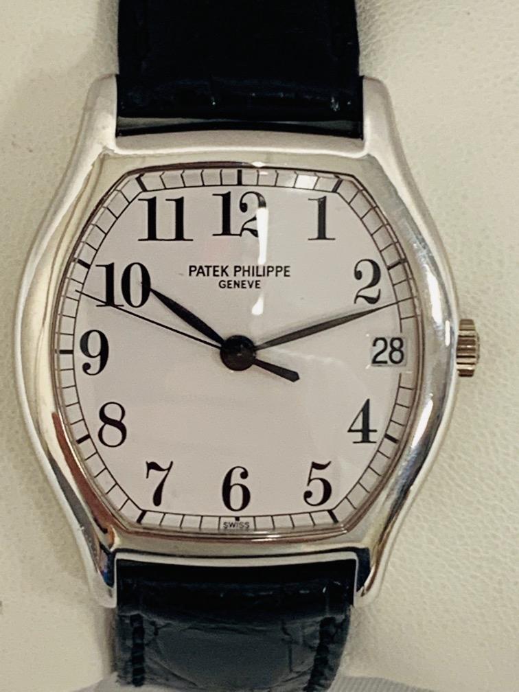 155 - PATEK Philippe, Genève. Montre d'homme en or blanc modèle Gondolo. Adjugé 7500€
