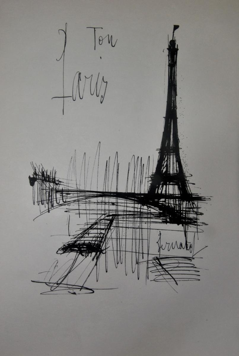 169- Bernard BUFFET. FURUKAKI. Paris de mon coeur. Adjugé 120€
