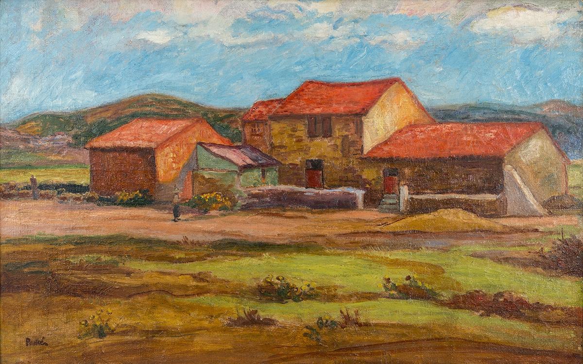 193 - Jean PESKE. Bergerie près du Lavandou. Huile sur toile. 73x116cm. Adjugé 1 500€