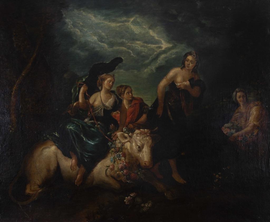 112- Ecole française du XVIIIème. Scène champêtre. Huile sur toile. 101x122cm. Adjugé 1000€