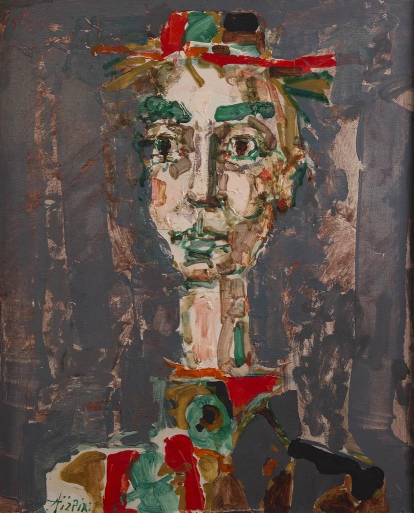 149- Paul AIZPIRI. Clown. Huile sur toile. 65,5x54cm. Adjugé 6000€