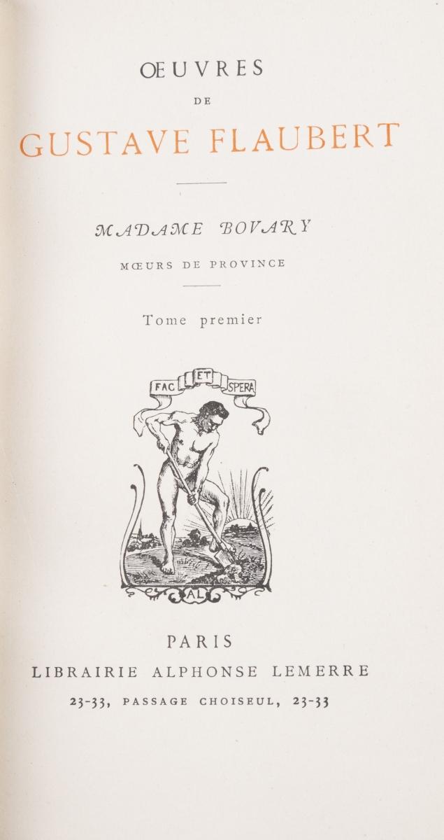 25 - FLAUBERT Gustave. Oeuvres. Adjugé 200€ (2)