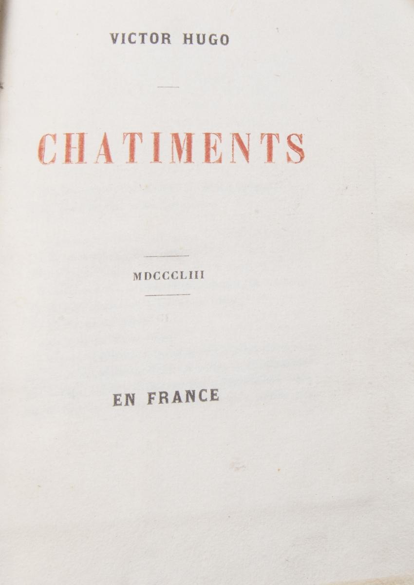 36 - HUGO Victor. Les châtiments 1853. Adjugé 280€ (2)