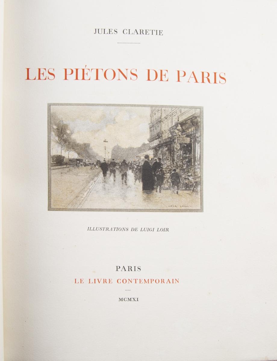 46 - CLARETIE Jules. Les piétons de Paris. Adjugé 250€ (2)