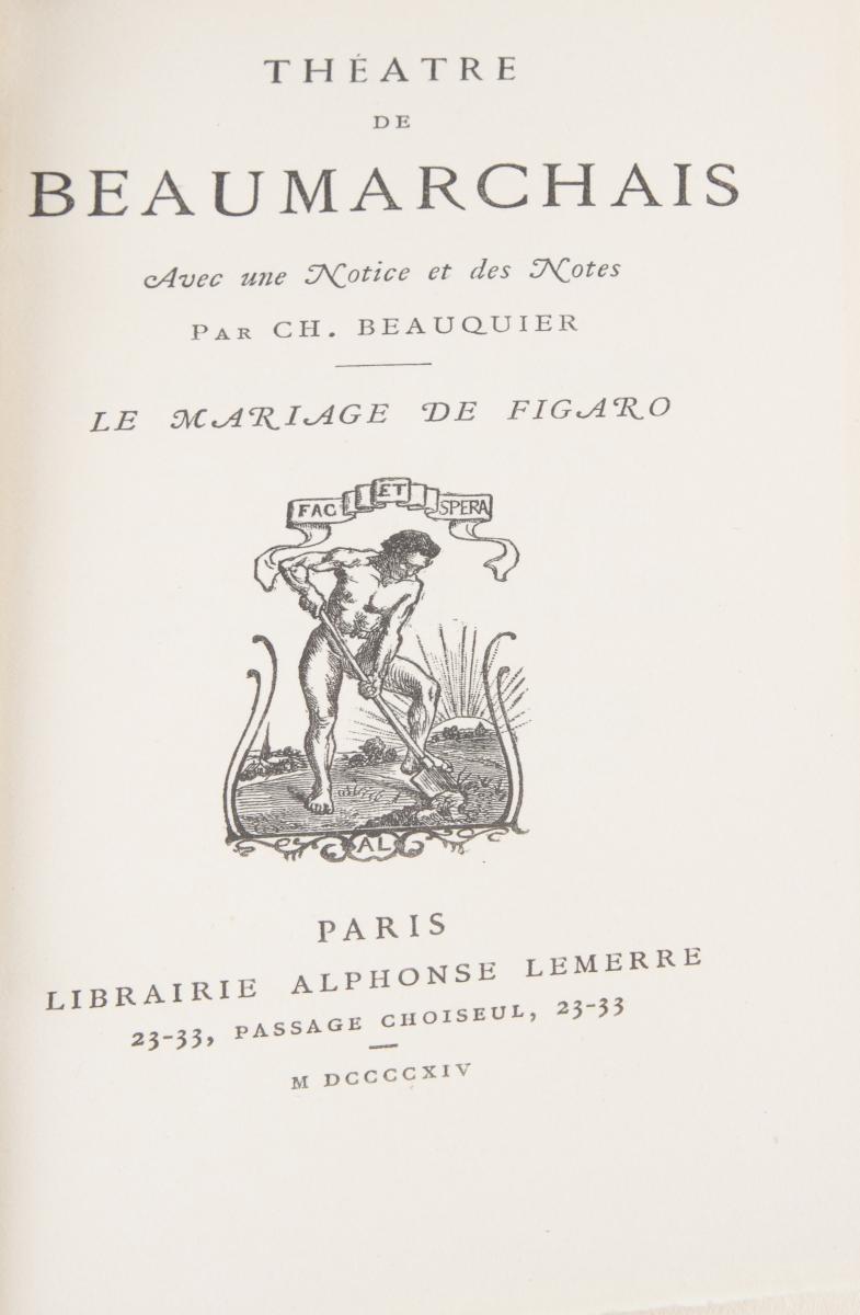 9 - RABELAIS François. Oeuvres et BEAUMARCHAIS Théâtre. Adjugé 200€ (2)