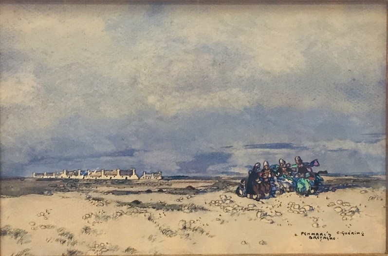 151 - Ernest Pierre GUERIN. Penmarc'h, Bretagne. Aquarelle sur papier.16x24cm. Adjugé 1.500€