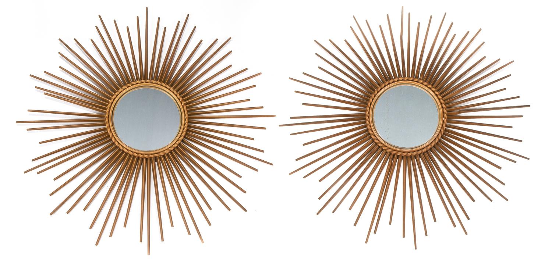 295- Chaty Vallauris. Paire de miroirs oeil de sorcière. Adjugé 300€