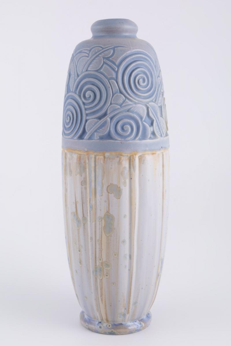 150- Joseph MOUGIN (1876-1961). Vase de forme ooïde en grés vernissé. H40cm. Adjugé 420€ 2