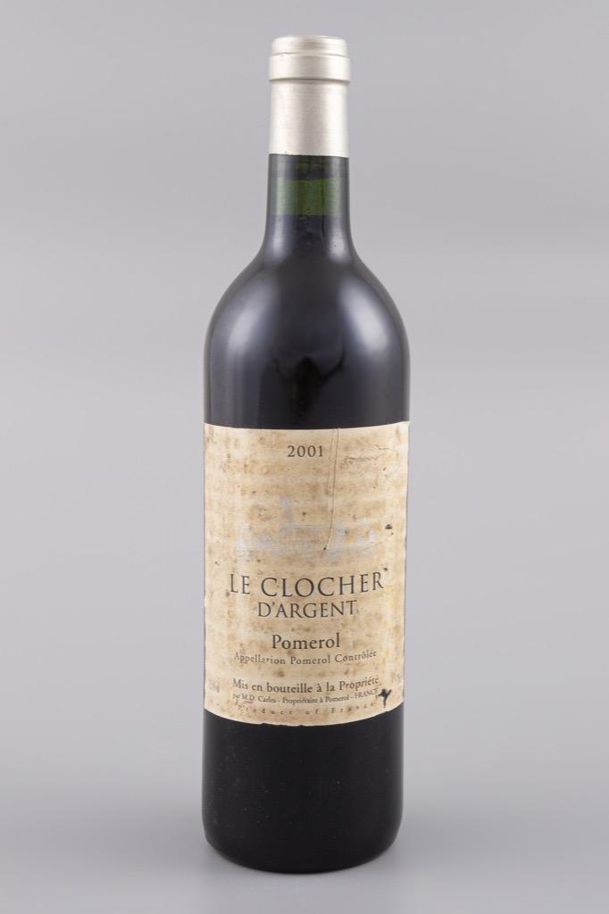 11- Pomerol, Le clocher d'argent 2001. 18 bouteilles. Adjugé 280€
