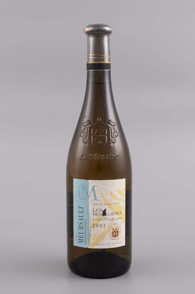 5- Meursault, Les Noiselières 2003. 4 bouteilles. Adjugé 120€