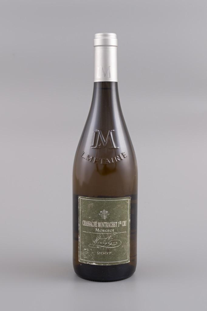 9- Chassagne Montrachet 1er cru, Morgeot 2007. 6 bouteilles. Adjugé 140€